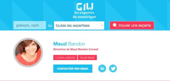 Maud Bandon Conseil est dans le guide des » Expertes du Numérique»